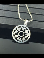 Women's Girl Fashion Stainless Steel Silver Christmas Pendant w/ Necklace  AA-36