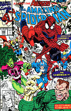 THE AMAZING SPIDER-MAN #348 SIGNED BY ARTIST ERIK LARSEN (LG)