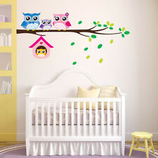 Cute Owl Pattern Home Decor Wall Sticker For Kids Room Bedroom Diy Stickers