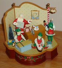 SANTA'S WORKSHOP Animated Musical Figure Christmas Display Elves Toys w/Box