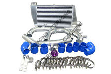 Bolt on Intercooler Kit For 07 + Mitsubishi Lancer Evolution EVO X Blue + BOV