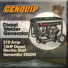 Genquip Diesel 10HP Welder/Generator 210Amp Electric Start
