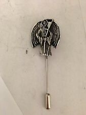Grim Reaper R207 Pewter Emblem on a Tie Stick Pin hat, scarf, collar, coat