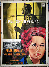 manifesto 4F orig IL PROCESSO DI VERONA Lizzani Silvana Mangano Frank Wolff 1963