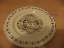 OLD VINTAGE CHINA ROYAL WEDDING ROYALTY PLATE PRINCESS DIANA CHARLES mayfair