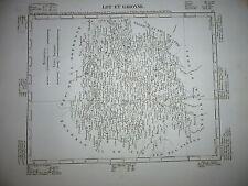 Gravure 19e Cartes France Départements & colonies géographie Lot et Garonne