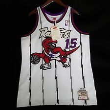 100% Authentic Vince Carter Mitchell Ness Raptors Home Jersey Size 48 XL