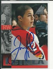 Autographed 1997 Pinnacle #17 Jerome Iginla Calgary Flames Hockey card