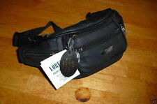 Ladies Black Cowhide Leather Waist/Bum Bag By  Lorenz New And Tagged