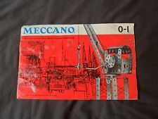 Vintage Meccano Set 0/1 Manual from 1962