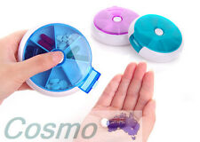 Pill Box 7 Days Round Case Medicine Container Dispenser Vitamin Organiser