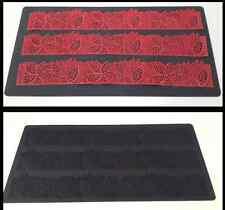 New Big Creative 40cm x 20cm silicone cake lattice lace Feathers chocolate mould