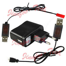 5V 1000mA AC/DC Adaptor & USB RC Charger Line f/ RC Helicopter 3.7V Lipo Battery
