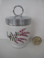 RARE VINTAGE ROYAL WORCESTER SINGLE SIZE EGG CODDLER DUNROBIN HEATHER......small