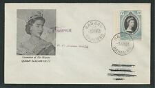 BAHAMAS # 157 CORONATION OF QUEEN ELIZABETH II, First Day Cover (9262)