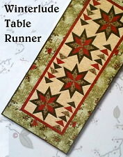 WINTERLUDE TABLE RUNNER QUILT KIT Extra Long / Use as Bed Runner / Moda Fabric