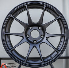 17X9.0 ROTA TITAN WHEELS 5X100 RIMS FLAT BLACK ET 35MM