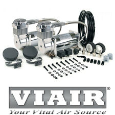 VIAIR DUAL 400C CHROME AIR RIDE 12v VOLT 150PSI COMPRESSOR AIRLIFT PERFORMANCE