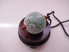 100% Natural Type A Jadeite Jade hollow ball pendant J00065