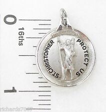 Charm Barrows ST. CHRISTOPHER BOATING Religious medal pendant Sterling silver