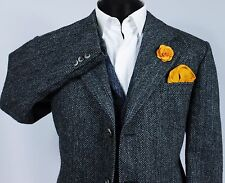 Harris Tweed Blazer Jacket Wedding Country Races 43R EXCEPTIONAL QUALITY 112