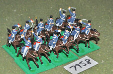 20mm napoleonic prussian dragoons 12 cavalry plastic (7958) painted