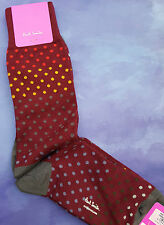 Paul Smith Mens English Socks Pin Dot Royal Red Multi F958 One Size Cotton Mix