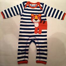 New Baby Boys Ex designer Footless Romper Playsuit Age 3-6 Months Little Lion