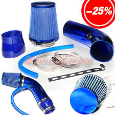 """2.5""""-3.0"""" UNIVERSAL COLD AIR Intake INDUCTION HOSE KIT System & Narrow Filter BL"""