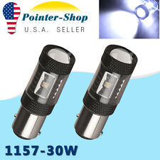 2 x Cool White 1157 High Power 30W BAY15D Tail Brake Turn Signal Led Light 7528