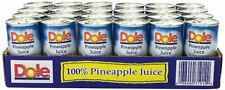 24 Cans - Dole 100% Pineapple Juice 6 oz