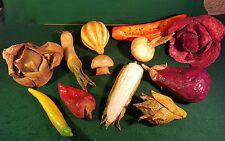 LOT of 12 Paper Mache Mexican Vegetable Fruit Vintage Decorative Folk Art
