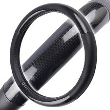 Carbon Fiber Steering Wheel Cover for Car SUV Odorless Echo Tech Black Small