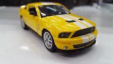 2007 SHELBY GT-500 GIALLO KINSMART giocattolo modello 1/38 scala pressofuso AUTO