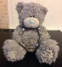 Me To You 5 & A Half Inch Metal Horse Shoe Grey Beanie Bear With Tag