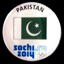 SOCHI 2014 Olympic PAKISTAN NOC team delegation pin very rare ONE ATHLETE