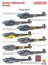 Techmod Decals 1/72 Foreign POTEZ 63-11 Bomber w/Masks