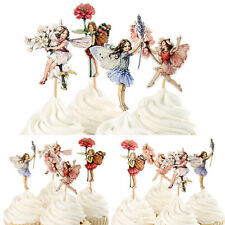 48PC HOT Flower Fairy Cupcake Topper Food Picks Cake Decor for Birthday Party XC