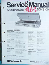 Service Manual Panasonic SG-2100 Hifi Centre,ORIGINAL