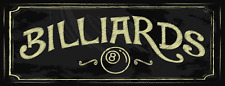 Billiards Street Metal Sign, Pool, Game Room, Mancave, Den, Wall Décor