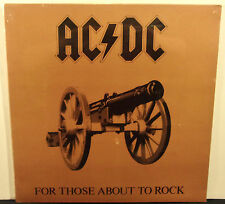 """AC/DC For Those About To Rock U.S. Orig.1981 Vinyl 12"""" LP Sealed NM Club Edition"""