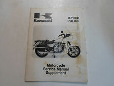 1986 Kawasaki KZ1000 Police Service Manual Supplement WATER DAMAGED P5 P-5 P 5