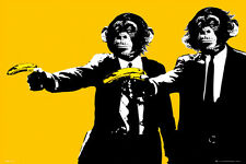 "Pulp Fiction Monkeys POSTER ""Steez, Travolta, Therman"" BRAND NEW Licensed Art"