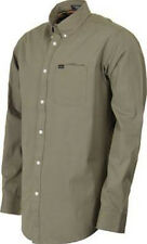 MATIX Eli Solid Woven Shirt (L) Hunter Green