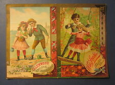 Old 1880's - GLENWOOD - Stoves Ranges Trade Card - Weir Stove Co. Taunton Mass.