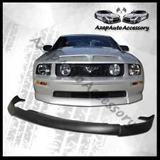 For 05-09 Ford Mustang V8 CV Type 2 Sty Urethane Front Bumper Lip Spoiler Black