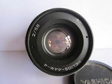 Russian Zenit 44M Rare Helios M42 Pentax Screw mt 58mm f2 Swirly Bokeh lens Cap