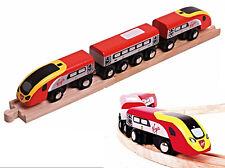 Virgin Pendolino Train BJT461 Wooden Railway Track - Thomas Bigjig  Brio comp