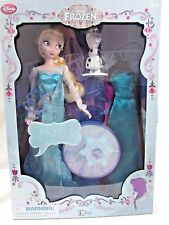 Disney Store Frozen Singing Feature Doll Queen Elsa and Accessories