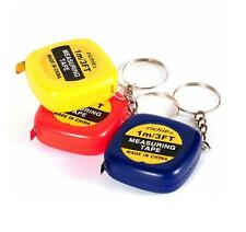 Mini Retractable Stainless Steel Pocket Measuring Ruler Tape Measure 1m Keychain